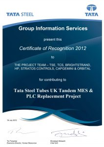 ata Steel UK Project Award